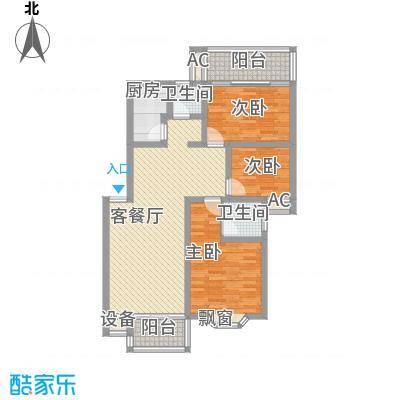 咸嘉新村户型图3室2厅2卫1厨