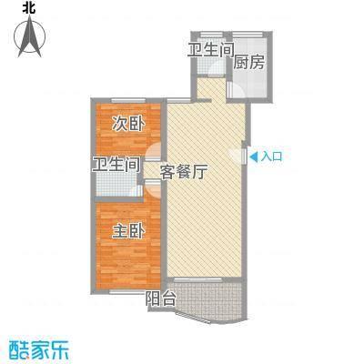望兴家园104.45㎡2室2厅2卫1厨