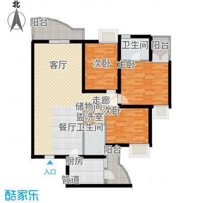 颐美园115.00㎡颐美园户型图3室2厅2卫1厨户型10室