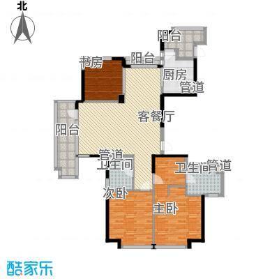 王陵公园宿舍3室2厅户型3室2厅