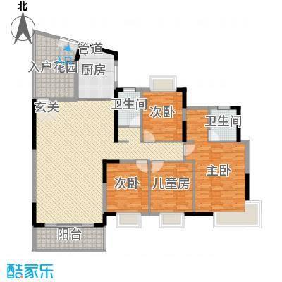 滨江新外滩4室2厅户型4室2厅2卫1厨