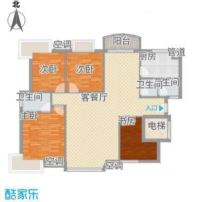 江岸锦城148.00㎡4室2厅户型4室2厅2卫1厨