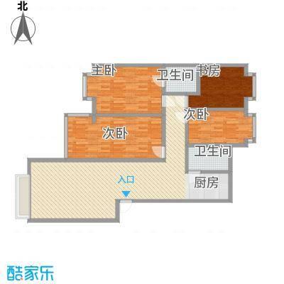 金峰沐春园141.48㎡1栋A型户型4室2厅2卫1厨