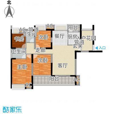融科东南海二期159.00㎡东海D3户型4室2厅2卫1厨
