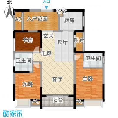 融科东南海二期136.00㎡一期中海1/2-c4户型3室2厅2卫1厨
