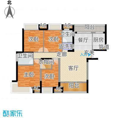 融科东南海二期156.00㎡北海D4户型4室2厅2卫1厨