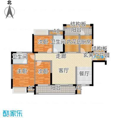 融科东南海二期137.00㎡中海C5户型3室2厅2卫1厨