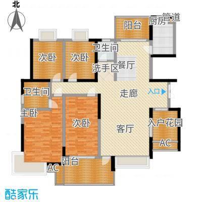 华银天际二期174.78㎡C4栋户型4室2厅2卫1厨