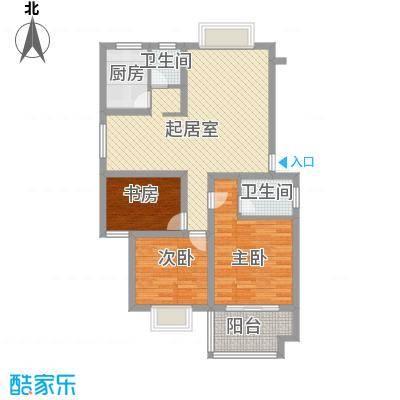 新星小区104.68㎡新星小区户型图3室1厅2卫1厨户型10室