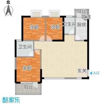 星城映象114.66㎡K户型3室2厅2卫