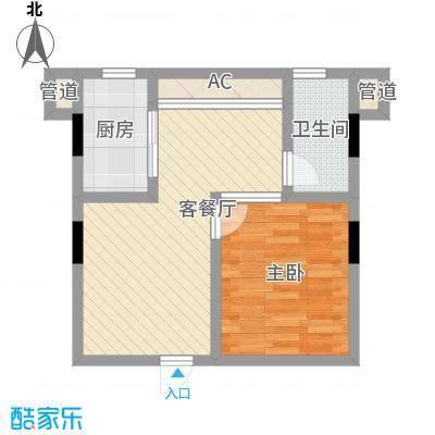 上庭苑1室1厅户型1室1厅1卫1厨