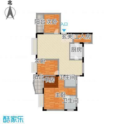 智邦家园156.46㎡五室两厅一厨两卫户型5室2厅2卫1厨