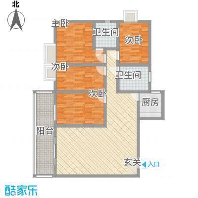 鸿信大厦153.00㎡鸿信大厦153.00㎡4室2厅2卫1厨户型4室2厅2卫1厨