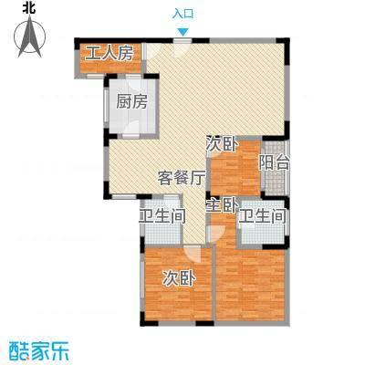 智邦家园152.03㎡四室两厅一厨两卫户型4室2厅2卫1厨