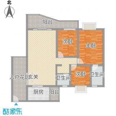 扫把塘检查院宿舍3室2厅户型3室2厅2卫1厨