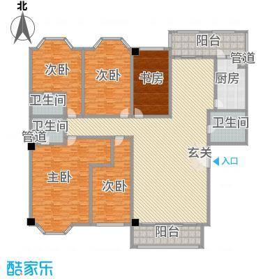 巴黎香榭406.79㎡5室2厅户型5室2厅3卫1厨