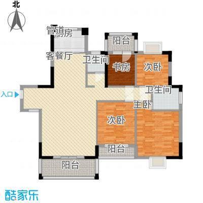 凤凰商贸城4室2厅2卫1厨户型4室2厅2卫1厨