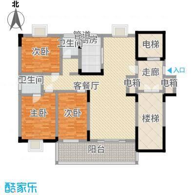 香樟景苑3室2厅户型3室2厅2卫1厨