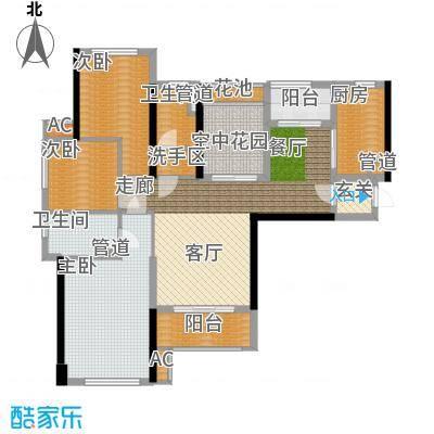 南山・苏迪亚诺109.20㎡D户型3室2厅2卫