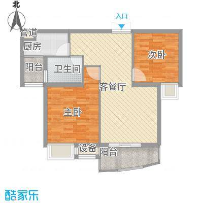 天赐良园88.44㎡二室二厅一卫88.44㎡户型2室2厅1卫