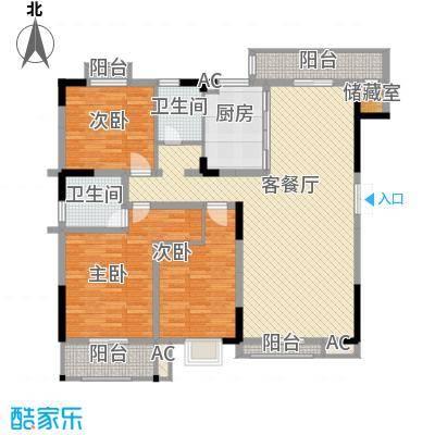 汇城上筑139.20㎡6-01-Model户型3室2厅2卫