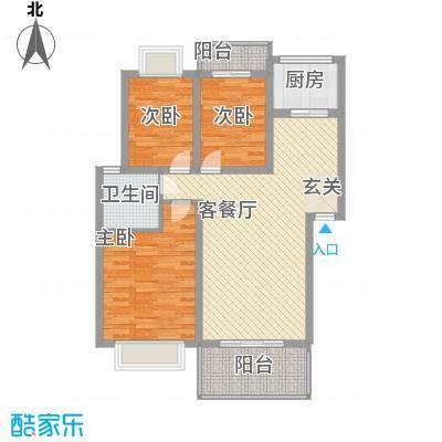 建委宿舍108.00㎡3室2厅1卫1厨户型3室2厅1卫1厨