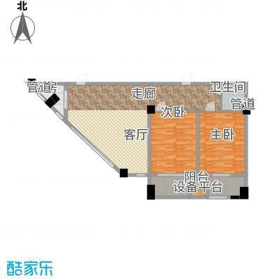 长城雅苑二期136.67㎡3#D户型2室2厅1卫1厨