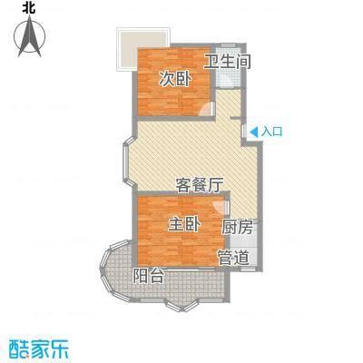 华丽家族两室两厅一厨一卫户型2室2厅1卫1厨