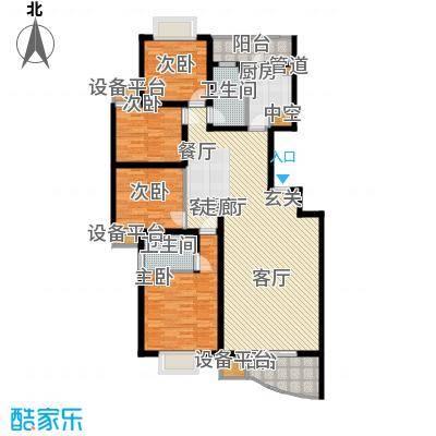 颐美园135.00㎡颐美园户型图4室2厅2卫1厨户型10室
