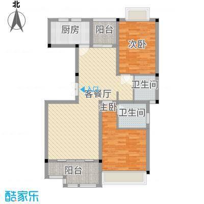 花港小区97.00㎡3栋D-4户型2室2厅2卫1厨