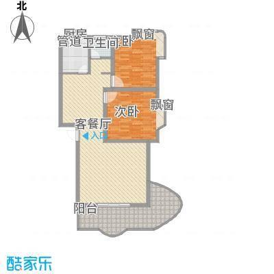 楚湘公寓2室1厅1卫1厨户型2室1厅1卫1厨