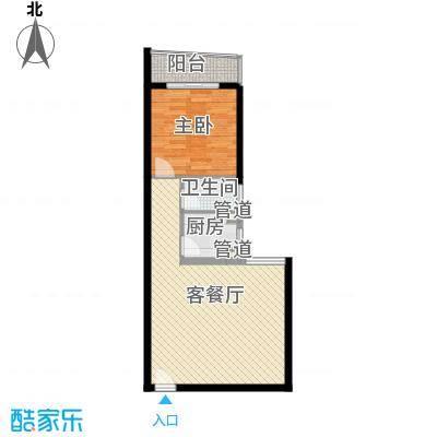 天心电子世界大厦1室1厅户型1室1厅1卫1厨