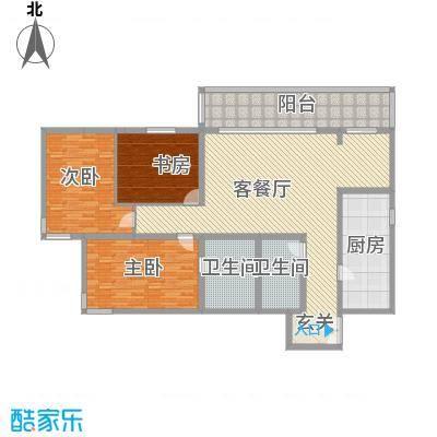 华润嘉园小区3室2厅户型3室2厅2卫1厨