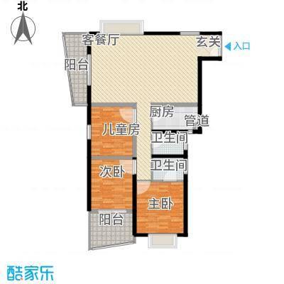 天心电子世界大厦3室2厅户型3室2厅2卫1厨