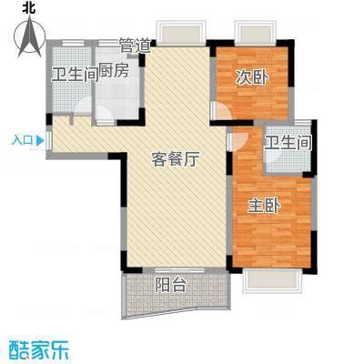 明天世纪广场三室两厅一厨一卫户型3室2厅1卫1厨