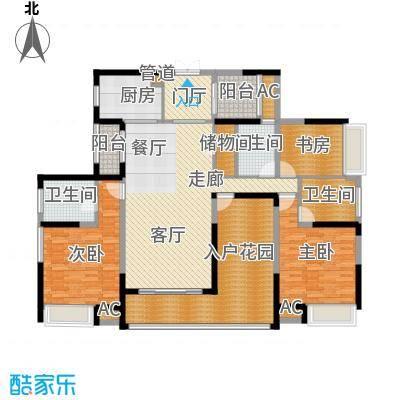 融科东南海二期163.00㎡东海C6户型3室2厅3卫1厨