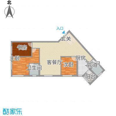 大财门124.14㎡格调公寓24层户型3室2厅2卫1厨