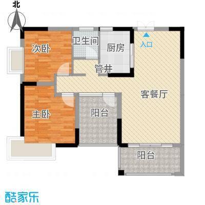 金霞湘绣园95.23㎡1-03户型2室2厅1卫