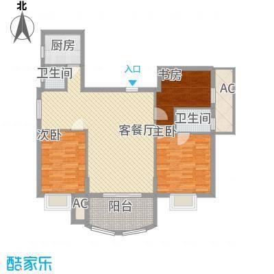 金色比华利129.00㎡金色比华利户型图8-10_F3室2厅2卫1厨户型3室2厅2卫1厨