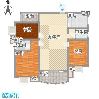 金色比华利126.00㎡金色比华利户型图14_D3室2厅2卫1厨户型3室2厅2卫1厨
