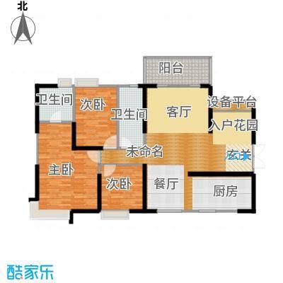 滨江君悦香邸131.31㎡B1户型3室2卫