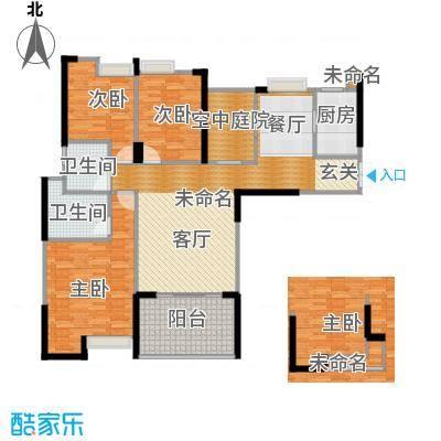 滨江君悦香邸132.00㎡B9户型3室2卫1厨