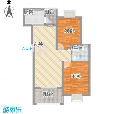 三江养生美墅户型图2室2厅1卫1厨 户型图 2室2厅1卫1厨