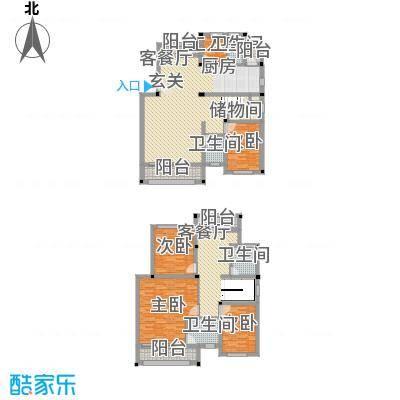 骏豪花园217.80㎡骏豪花园户型图4室3厅4卫1厨户型10室