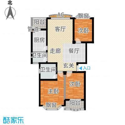 锦泰家园130.00㎡锦泰家园130.00㎡3室2厅2卫1厨户型3室2厅2卫1厨