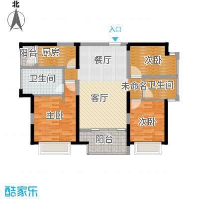 旭辉华庭112.71㎡4号栋F户型3室2卫1厨