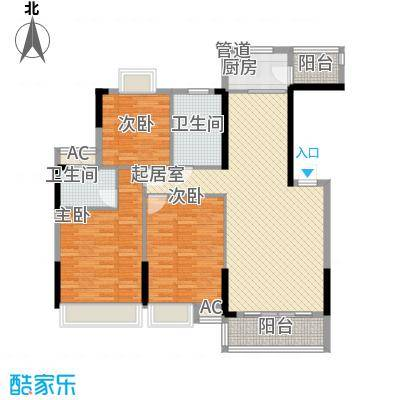 豪庭120.00㎡05户型3室2厅2卫1厨