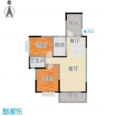 博雅湘水湾88.96㎡3栋户型2室1厅1卫1厨