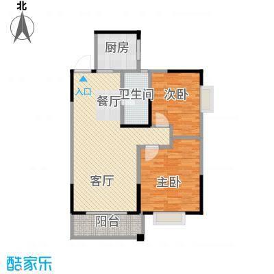 博雅湘水湾87.68㎡3栋户型2室1厅1卫1厨