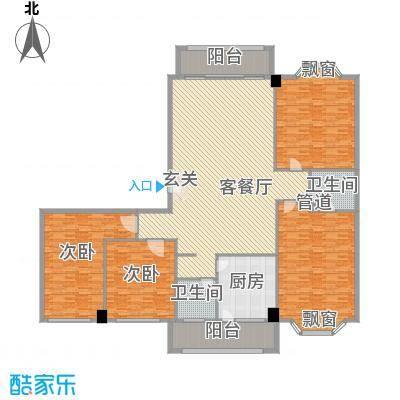 巴黎香榭333.97㎡4室2厅户型4室2厅2卫1厨